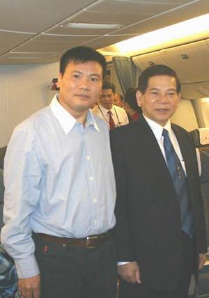 Ông Trương Duy Nhất trong lần tháp tùng đoàn công du  sang Mỹ với Chủ tịch nước  Nguyễn Minh Triết