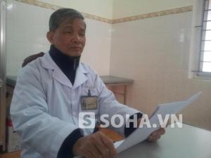 Bác sĩ Phạm Huy Vinh, người được nói là đã trực tiếp điều trị cho bệnh nhân N (Ảnh Soha News)