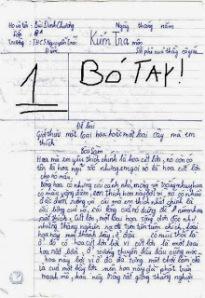 Một bà tập làm văn của trẻ con - Ảnh sưu tầm từ Quê Choa