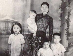 Bà Cát Hanh Long và các con