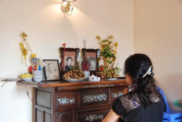 Bàn thờ bà Nguyễn Thị Năm