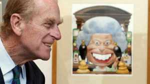 Hoàng tế Philip xem tranh biếm họa cười cả chính vợ ông, Nữ hoàng Elizabeth II