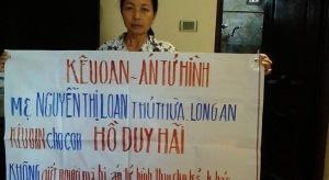 Mẹ Hồ Duy Hải kêu oan cho con.