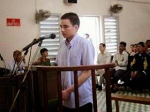 Ảnh: Hồ Duy Hải tại phiên tòa sơ thẩm
