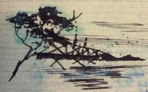 Cầu Ca-rông qua nét vẽ của Anh Cả