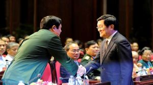 Nhiều ủy viên Bộ Chính trị có mặt tại sự kiện ngày 27/07 ở Bộ Quốc phòng Việt Nam.