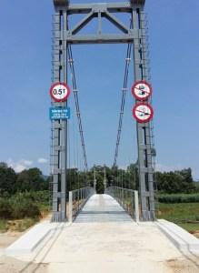 Cầu treo Khe Tây (Ảnh: VnExpress)