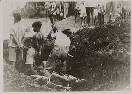 Một trong hàng ngàn cảnh giết người tại Indonesia năm 1965 (Ảnh: Internet)