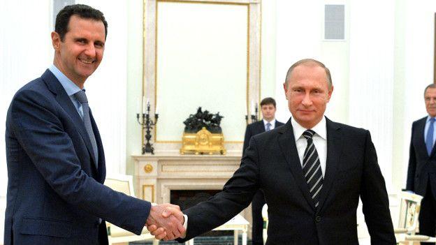 Ông Putin nhất mực ủng hộ tổng thống Assad ở Syria