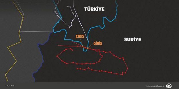 Thổ Nhĩ Kỳ công bố dữ liệu radar và nói chiến đấu cơ Nga đã xâm nhập không phận của họ.