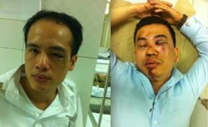 2 luật sư Lê Văn Luân và Trần Thu Nam (từ trái qua)
