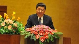 Ông Tập Cận Bình phát biểu trước Quốc hội Việt Nam. Ảnh: Như Ý (Báo Tiền Phong)