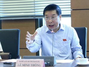 Đại biểu Quốc hội Le Minh Thông (Ảnh: Thanh Niên online)