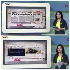 Điểm báo chí trên một bản tin của VTV1