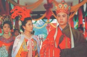 Đường Tăng (Từ Thiếu Hoa đóng) và Tây Lương Nữ Quốc ( đóng) trong phim Tây Du Ký (Ảnh: Internet)