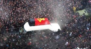 Người dân Triều Tiên trong lễ quốc tang nhà lãnh đạo Kim Jong Il ngày 28/12/2011