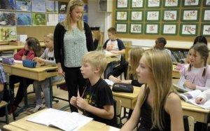 Học sinh Phần Lan trong giờ học