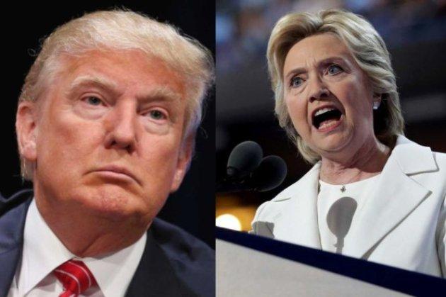 Ứng cử viên tổng thống Mỹ Donald Trump và Hillary Clinton - Ảnh: AFP