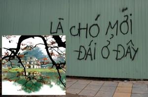 """Một """"bức tường chửi"""" ở Hà Nội"""