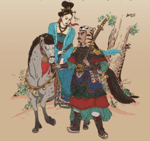 Lý Chiêu Hoàng- tranh của Phan Thanh Nam